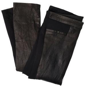 Helmut Lang Jersey Leather Legging Black Size 2